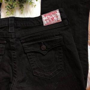 True Religion   Black Joey Bootcut Jeans Size 32